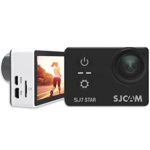 "SJCAM OEM SJ7 STAR WiFi 4K Câmera de ação 2.0 \""Touch Screen 166 graus FOV 12MP multi idioma - preto"