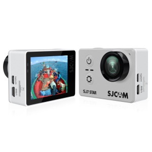 "SJCAM OEM SJ7 STAR Action Camera WiFi 4K 2.0"" Touch Screen 166 Degree FOV 12MP Multi-language - Silver Color"