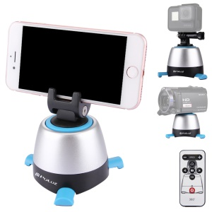 PULUZ PU360 Electronic 360 Degree Rotation Panoramic Tripod Head with Remote Controller - Blue