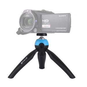 PULUZ PU361 Mini Tripod Mount with 360 Degree Ball Head for GoPro DSLR Cameras - Blue