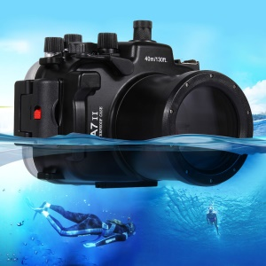 PULUZ Pu7004 40m Underwater Waterproof Diving Case Camera Housing for Sony A7 II / A7R II / A7S II Cameras - Black