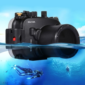 PULUZ Pu7003 40m Underwater Diving Waterproof Case Housing for Sony A7 / A7S / A7R Cameras - Black