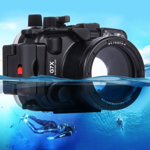 PULUZ Pu7007 for Canon G7 X Camera 40m Diving Housing Underwater Waterproof Case - Black