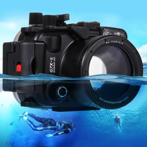 PULUZ Pu7008 for Canon G7 X Mark II Camera 40m Underwater Waterproof Case Diving Housing - Black