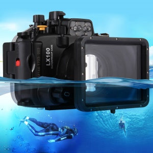 PULUZ Pu7009 40m Underwater Camera Waterproof Housing Case for Panasonic LUMIX DMC-LX100 - Black