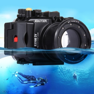PULUZ Pu7006 40m Underwater Waterproof Diving Camera Housing Case for Sony RX100 IV Camera - Black