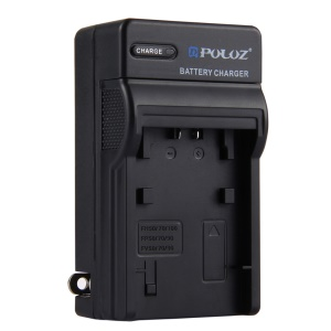 PULUZ PU2104 Battery Charger for Sony NP-FH50 / NP-FH70 / NP-FH100 / NP-FP50 / NP-FP70 / NP-FP90 / NP-FV50 / NP-FV70 / NP-FV90 Battery - US Plug