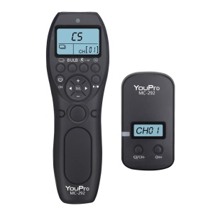 MC-292 2.4G Wireless Remote Control LCD Timer Shutter Transmitter + Receiver for Nikon/Canon/Sony/Panasonic