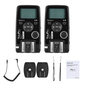 Wireless Flash Trigger with E3 2.5mm PC Sync & Shutter Cable for Canon Camera