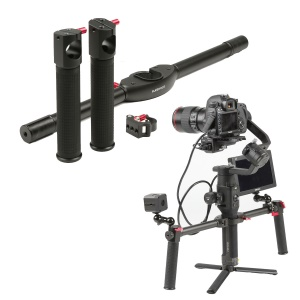 Dual Handle Grip Extended Handheld Kit for DJI Ronin S Gimbal Stabilizer
