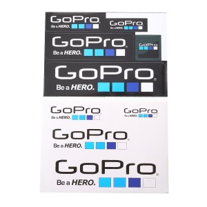 9Pcs/Set for GoPro Hero Camera Decals Stickers Graphic Adhesive Set