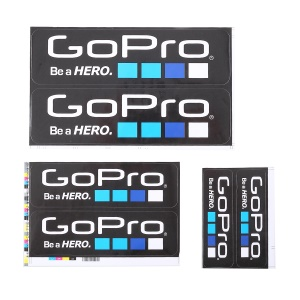 6Pcs/Set for GoPro Hero Camera Adhesive Decals Stickers Graphic Replacement Set