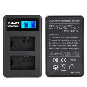 Double-Bay NP-FW50 USB Battery Charger with LCD Display for Sony Alpha 7 / A7 / 7R / A7R etc