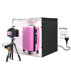 PULUZ PU5080 80cm Lightbox Photo Studio Box Softbox 80W White Light Photo Lighting Studio Shooting Tent Box Kit - EU Plug