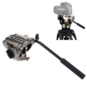 """PULUZ PU3501 Tripod Pan Head, 360 ° Rotatable Hydraulic Damping Head with 1/4"""" and 3/8"""" Screw for DSLR Camera, Video Camcorders - Bronze"""