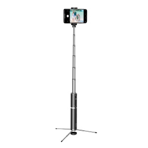 BASEUS Aluminum Alloy Foldable Bluetooth Control Selfie Stick with Tripod - Silver