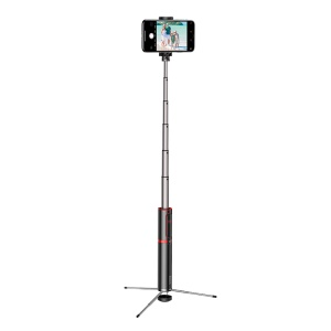 BASEUS Aluminum Alloy Foldable Bluetooth Control Selfie Stick with Tripod - Red