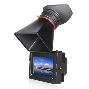 FEELWORLD E350 3.5-Inch HD Electronic Viewfinder with HDMI, Canon LP-E6 Battery Buckle Plate