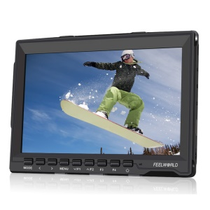 FEELWORLD FW759 7.0-inch Slim Design Ultra HD IPS 1280x800 Field Monitor with HDMI Input - Canon LP-E6 Battery Plate