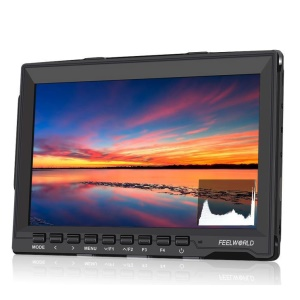 FEELWORLD FW759P 7.0-inch Ultra HD 1280x800 IPS Screen Camera Field Monitor with HDMI Input - Canon LP-E6 Battery Plate