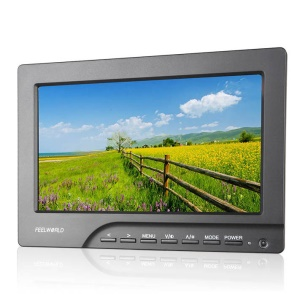 FEELWORLD FW689-HD 7.0-inch 800x480 HD LCD On Field Camera Display Monitor - Panasonic D28 Battery Plate