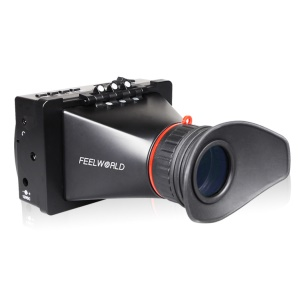FEELWORLD S350 3.5-inch 3G HD/SD-SDI Electronic Viewfinder Canon LP-E6 Camera, Panasonic D28 Battery Buckle Plate