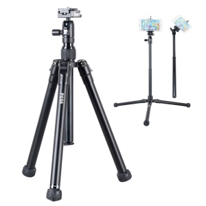 KINGJOY P056 5-section Portable Travel Camera Tripod Detachable Phone Selfie Stand