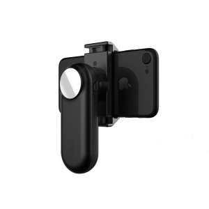 WEWOW Fancy Single Axis Hand-held Gimbal with LED Light and Mirror for iPhone 7 Plus / Samsung S8 - Black