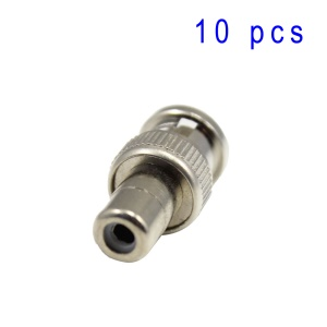 TVC-015 BNC Male Jack to RCA Female Plug Connector Pack of 10