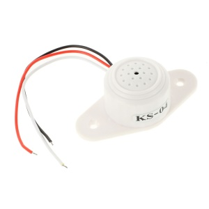 KS-04 Pin Socket Low Noise Audio Monitor for Security Camera CCTV Surveillance System - White