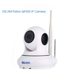 ESCAM Europe and America FREE SHIPPING HD 720P 1.0MP Pan/Tilt WiFi Alarm IP Camera  QF500 - EU Plug