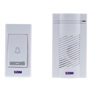 Wireless Door Bell Alarm Chime Doorbell Entry Bell 1 Receiver AC Supply & 1 Transmitter G213A - US Plug