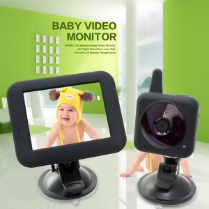 2.4G Wireless Camera 3.5-inch Video Audio Car Baby Monitor IR Night Vision JVE-2009 - US Plug