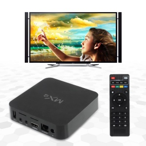 MXQ Smart TV Box Quad-core Android 4.4 Kitkat H.265 FHD 1080P 1GB/8GB - EU Plug