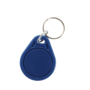 10PCS Mifare 13.56MHz Smart IC Key Ring Tag Keyfob for Access Control System - Blue