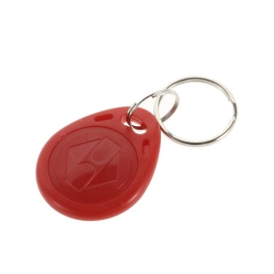 10PCS 125KHz EM4100 RFID Proximity ID Entry Access Key Fob for Access Control System - Red