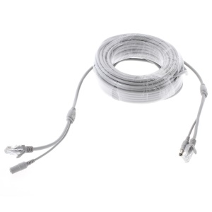 20M CCTV High Quality OD4.5mm RJ45 & DC Male to RJ45 & DC Female Network & Power Cable