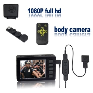 CCTV 1080P 2.7 inch Mini Button Camera with Pocket Recorder DVR VD-5000+501HD Security System - US Plug