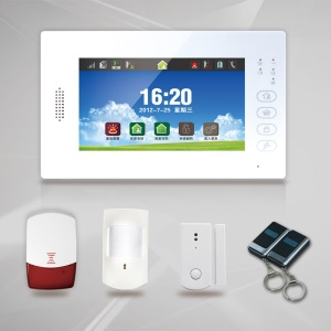 868MHz 7-inch LCD Full Touch Screen GSM Alarm System Home Security XSJ-8088-GCX6L - EU Plug