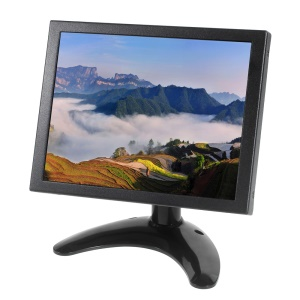 8-inch TFT LCD Monitor with VGA HDMI AV BNC G801 for PC CCTV Security - UK Plug