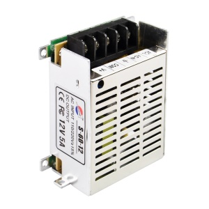 S-60-12 12V 5A Regulated Switching Power Supply for LED Light and Surveillance Security Camera