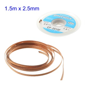GOOT Wick 2.5mmx1.5m Desoldering Remover Braid Cable CP-2515F
