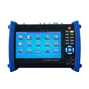 7.0-inch TFT LCD CCTV IPC + Digital Multimeter + Optical Fiber Power Meter + TDR + Analog Camera Tester Support 12V 2A Output PTZ Control WiFi (IPC-8600MOVT) - US Plug