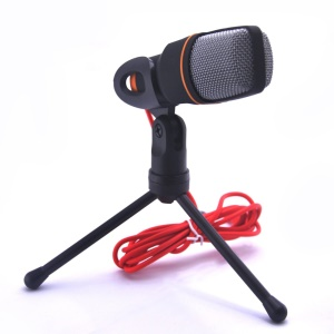 Fashionable Condenser Sound Studio Microphone Mic with Tripod for Chatting on PC Laptop Skype MSN Karaoke