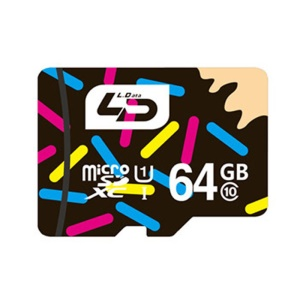 LD 64GB Micro SD TF Card Class 10 80Mb/S High Speed Memory Card