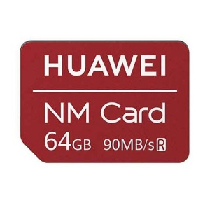 HUAWEI NM Card 90MB/s 64GB Memory Card Apply to Mate 20 Pro/Mate 20 X/P30 - Red