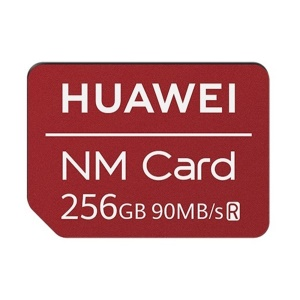 HUAWEI NM Card 90MB/s 256GB Memory Card Apply to Mate 20 Pro/Mate 20 X/P30 - Red