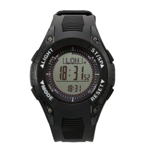 SUNROAD FR8202A 3ATM Waterproof Sports Multi-function Watch with Compass Altimeter - Black