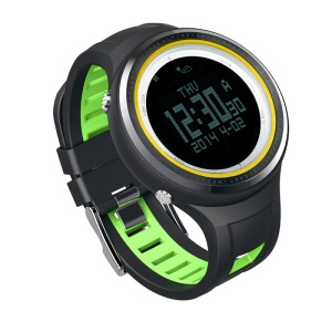 SUNROAD FR800NB Outdoor Sports Watch with 5ATM Waterproof Compass Stopwatch Etc - Green