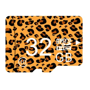 Leopard Print Series 32GB High Speed Micro SDXC Card Memory Card Class 10 with Adapter